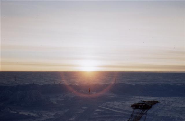 South Pole sunset